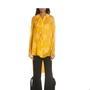NWT Cinq a Sept silk hi low blouse
